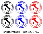 made in italy   rubber stamp  ... | Shutterstock .eps vector #1053273767