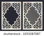 ornamental swirl template for... | Shutterstock .eps vector #1053287087