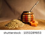 composition yerba mate south... | Shutterstock . vector #1053289853