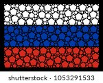 russian national flag collage...   Shutterstock .eps vector #1053291533