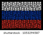 Russia State Flag Mosaic Done...