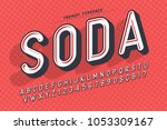 condensed display font popart... | Shutterstock .eps vector #1053309167