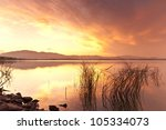 land scape refection | Shutterstock . vector #105334073