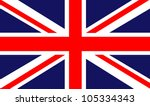 back ground of a british flag | Shutterstock . vector #105334343