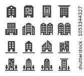 building icon set   Shutterstock .eps vector #1053344327