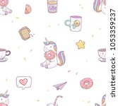 vector seamless pattern with... | Shutterstock .eps vector #1053359237