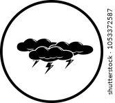 thunder storm symbol   Shutterstock .eps vector #1053372587