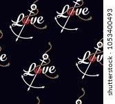 marine rope knot seamless... | Shutterstock .eps vector #1053400493