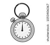 doodle pocket and hand watch... | Shutterstock .eps vector #1053406367