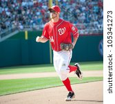 Small photo of WASHINGTON - JUNE 16: Washington phenom Bryce Harper during the Washington Nationals - New York Yankees game, which the Yankees won after 14 innings of play, on June 16, 2012 in Washington, D.C.