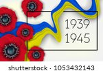 victory day card 9th may.... | Shutterstock .eps vector #1053432143