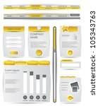 web design elements collection | Shutterstock .eps vector #105343763