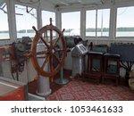 old ship bridge interior with... | Shutterstock . vector #1053461633