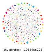 multicolored sparkle star... | Shutterstock .eps vector #1053466223