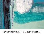 green watercolor abstract hand...   Shutterstock . vector #1053469853
