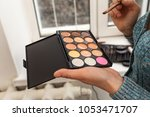 a palette of shadows in...   Shutterstock . vector #1053471707