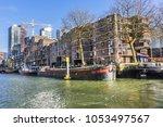 rotterdam  the netherlands  ... | Shutterstock . vector #1053497567