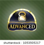 gold badge or emblem with...   Shutterstock .eps vector #1053505217