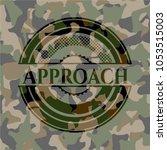 approach camo emblem | Shutterstock .eps vector #1053515003