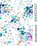 abstract colorful watercolor... | Shutterstock . vector #1053527417