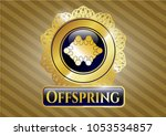 gold badge or emblem with...   Shutterstock .eps vector #1053534857