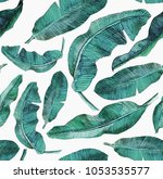 Tropical Seamless Pattern  Wit...