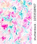 pink and teal painted abstract... | Shutterstock . vector #1053538907