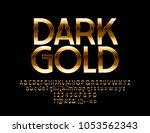 vector dark gold chic label....   Shutterstock .eps vector #1053562343