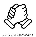 soul brother handshake  thumb... | Shutterstock .eps vector #1053604697