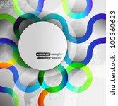 eps10 vector abstract seamless... | Shutterstock .eps vector #105360623