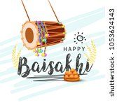 illustration of happy baisakhi... | Shutterstock .eps vector #1053624143