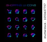 online shopping ui icons set...