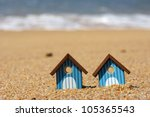 Miniature Beach Huts At The...