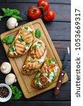 delicious traditional italian... | Shutterstock . vector #1053669317