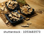 Small photo of Chinese traditional medicine glossy ganoderma slice