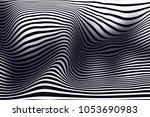 optical illusion. 3d rendering. | Shutterstock . vector #1053690983