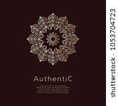 golden vector logotype.... | Shutterstock .eps vector #1053704723