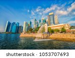 singapore city  singapore ... | Shutterstock . vector #1053707693