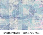 hand drawn abstract background. ... | Shutterstock .eps vector #1053722753