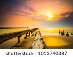 the scenic of sunrise at the... | Shutterstock . vector #1053740387
