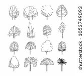 side view  set of graphics... | Shutterstock .eps vector #1053749093