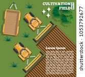 agricultural work. view from... | Shutterstock .eps vector #1053792677