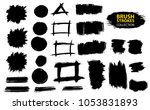 large set different grunge... | Shutterstock .eps vector #1053831893