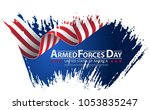 armed forces day template... | Shutterstock .eps vector #1053835247