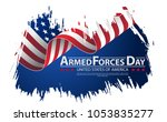 armed forces day template... | Shutterstock .eps vector #1053835277