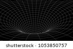tunnel or wormhole. abstract... | Shutterstock .eps vector #1053850757