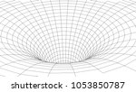 tunnel or wormhole. abstract... | Shutterstock .eps vector #1053850787