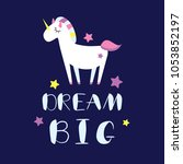 dream big card template with... | Shutterstock .eps vector #1053852197