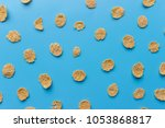 corn flakes background and... | Shutterstock . vector #1053868817