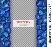 ripe blueberry fruit vertical...   Shutterstock .eps vector #1053877067